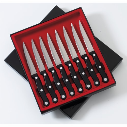 "Slitzer 8 Piece  8-7/8"" Steak Knife Set Perspective: front"