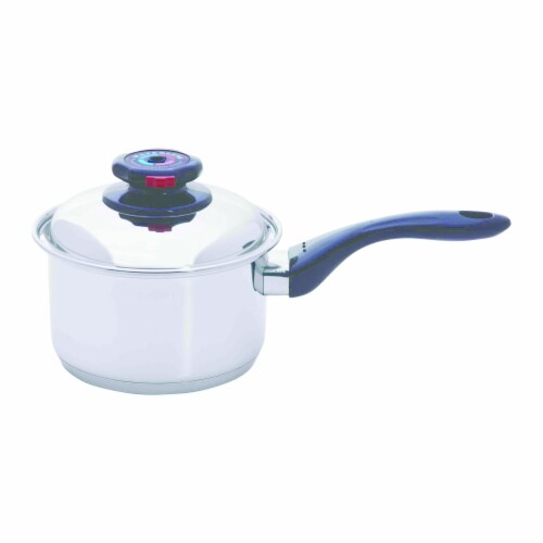 Maxam 12-Element 1.7qt Saucepan with Cover Perspective: front