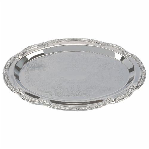Sterlingcraft Silver Finish Serving Tray 9 x 6 inches Perspective: front