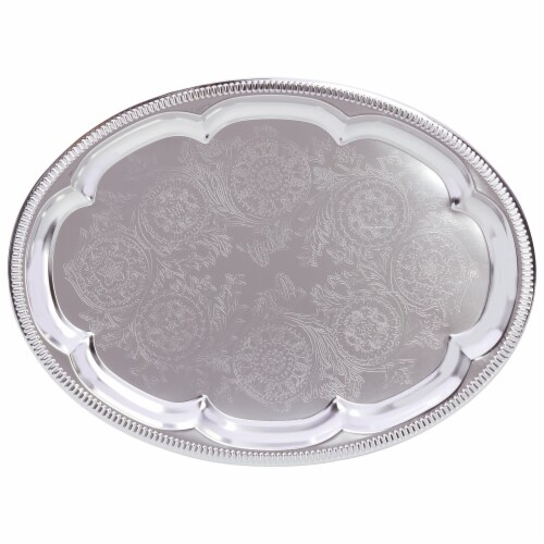 Sterlingcraft Oval Serving Tray Perspective: front