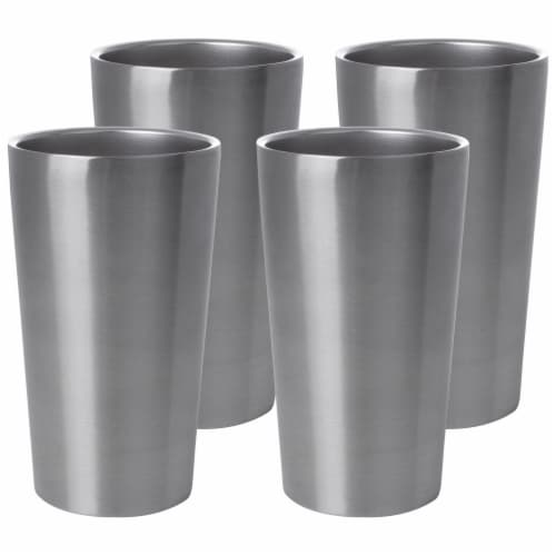Maxam Stainless-Steel 4-piece Double Wall 13 oz. Tumbler Set Perspective: front