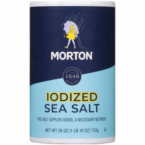 Morton Iodized Sea Salt Perspective: front