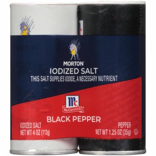 Morton Salt & Pepper Shakers Perspective: front