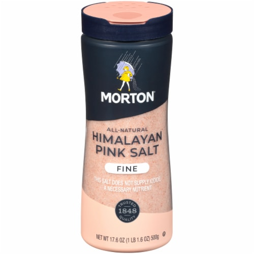 Morton Fine All Natural Himalayan Pink Salt Perspective: front