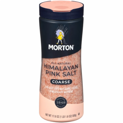 Morton All Natural Coarse Himalayan Pink Salt Shaker Perspective: front