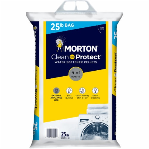 Morton Clean & Protect Water Softener Pellets Perspective: front