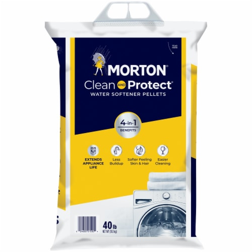 Morton® Clean & Protect® Water Softener Pellets Perspective: front