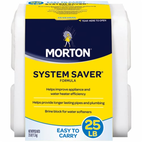 Morton System Saver Formula Brine Block Perspective: front