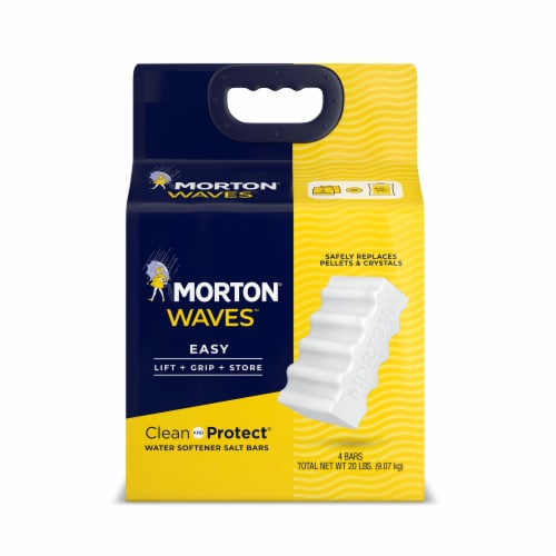 Morton Waves Clean and Protect Water Softener Salt Bars Perspective: front