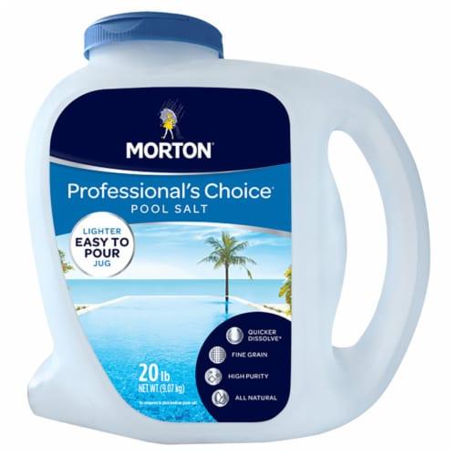 Morton Salt Professionals Choice Pool Salt Quicker Dissolve Granule Pool Salt 20 lb. - Case Perspective: front