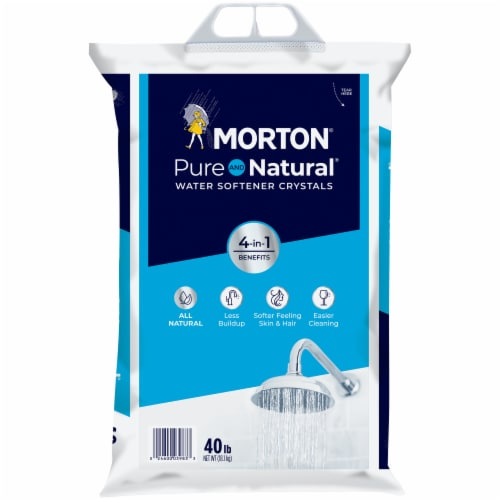 Morton Pure & Natural Water Softener Crystals Perspective: front