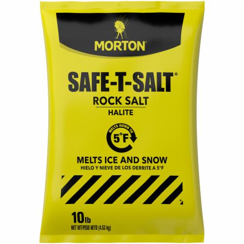 Morton Safe-T-Salt Rock Salt Perspective: front