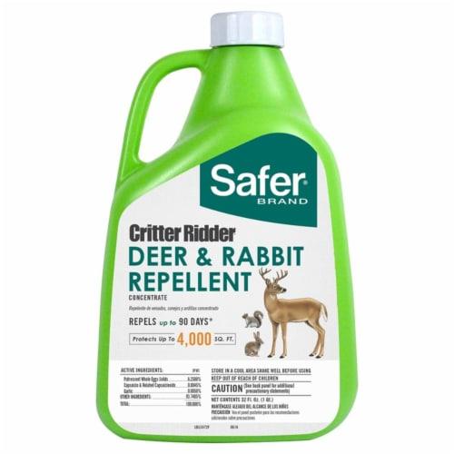 Safer Brand 7004639 32 oz Critter Ridder Animal Repellent Concentrate for Deer & Rabbits Perspective: front