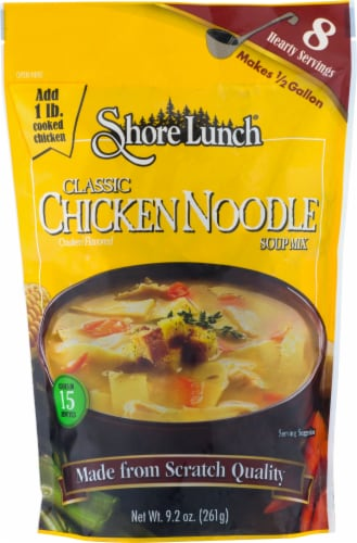Shore Lunch Classic Chicken Noodle Soup Mix Perspective: front