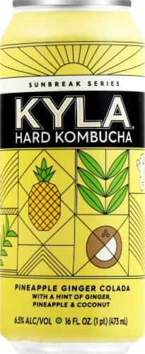 KYLA Hard Kombucha Pineapple Ginger Colada Can Perspective: front