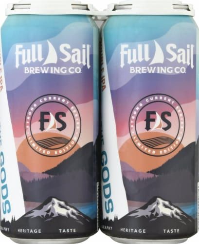 Full Sail Brewing Co. Haze of the Gods Double IPA Perspective: front