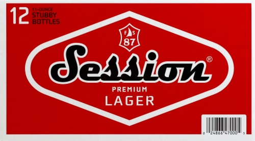 Full Sail Brewing Co. Session Premium Lager Perspective: front
