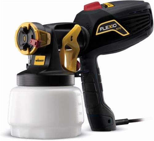 Wagner Flexio® 570 Black & Yellow Paint Sprayer Perspective: front