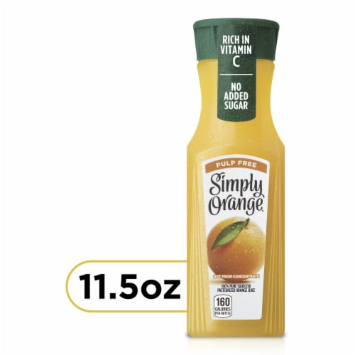 Simply Orange Pulp Free Juice Drink Perspective: front