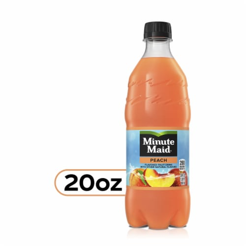 Minute Maid Peach Flavored Fruit Drink Perspective: front