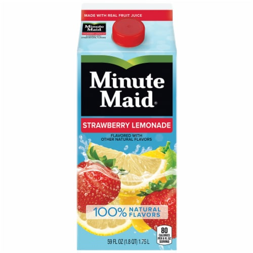 Minute Maid Strawberry Lemonade Juice Drink Perspective: front