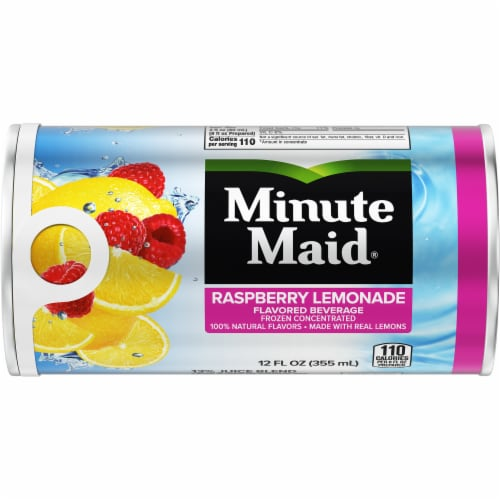 Minute Maid Raspberry Lemonade Frozen Concentrated Fruit Juice Drink Perspective: front