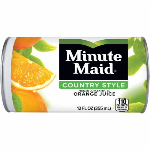 Minute Maid Country Style Frozen Concentrated Orange Juice Perspective: front