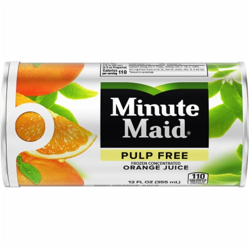 Minute Maid Pulp Free Frozen Concentrated Orange Juice Perspective: front