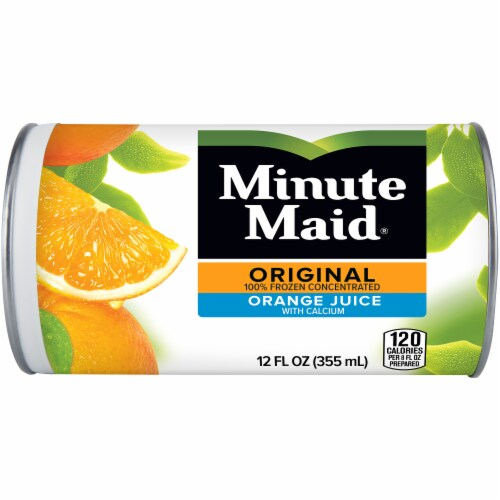 Minute Maid 100% Orange Juice with Added Calcium Frozen Concentrate Perspective: front