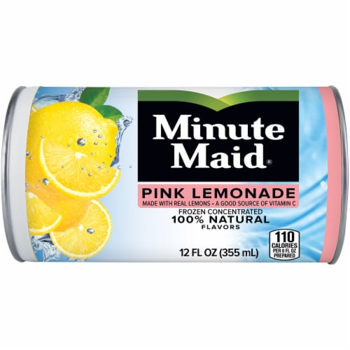 Minute Maid Pink Lemonade Frozen Concentrated Fruit Drink Perspective: front