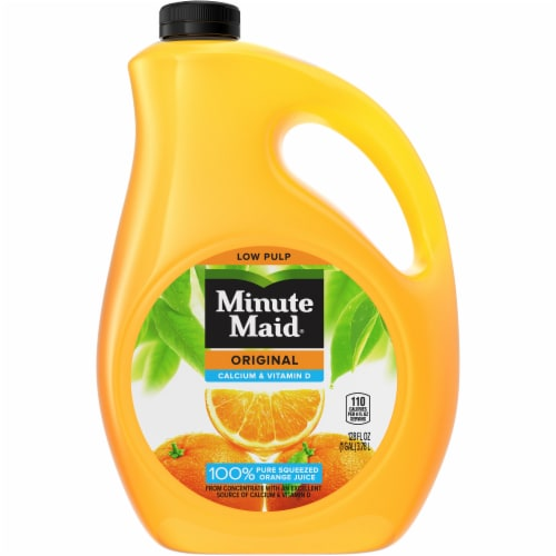 Minute Maid Original Calcium & Vitamin D 100% Orange Juice Drink Perspective: front
