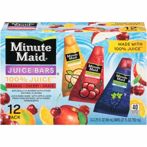 Minute Maid Orange Cherry Grape Juice Bars Perspective: front