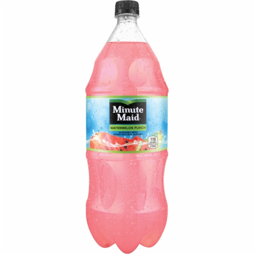 Minute Maid Watermelon Punch Naturally Flavored Fruit Drink Perspective: front