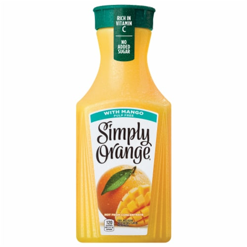 Simply Orange with Mango Fruit Juice Drink Perspective: front