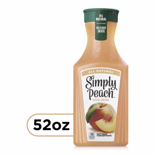 Simply Peach Fruit Juice Drink Perspective: front