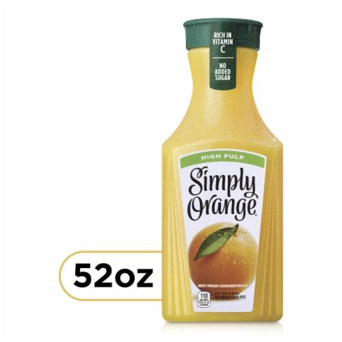 Simply Orange High Pulp Orange Juice Perspective: front