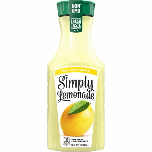 Simply Lemonade Juice Drink Perspective: front
