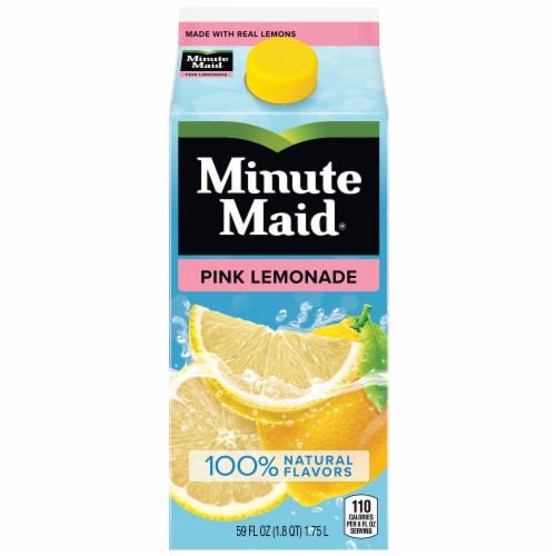 Minute Maid Pink Lemonade Juice Drink Perspective: front