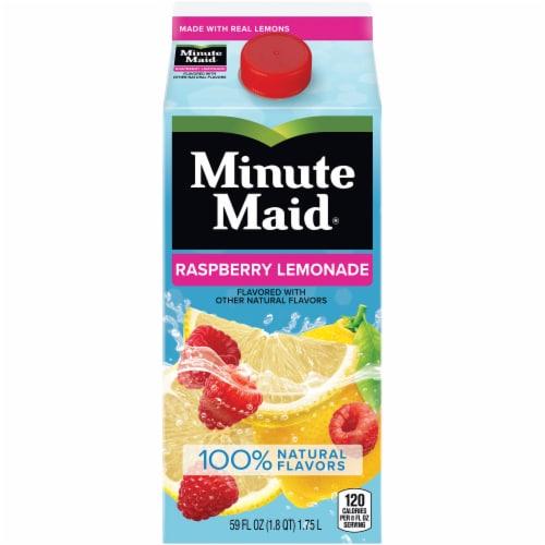 Minute Maid Raspberry Lemonade Juice Drink Perspective: front