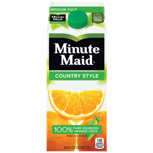 Minute Maid Country Style Medium Pulp Orange Juice Perspective: front