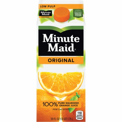 Minute Maid Original Low Pulp 100% Orange Juice Perspective: front