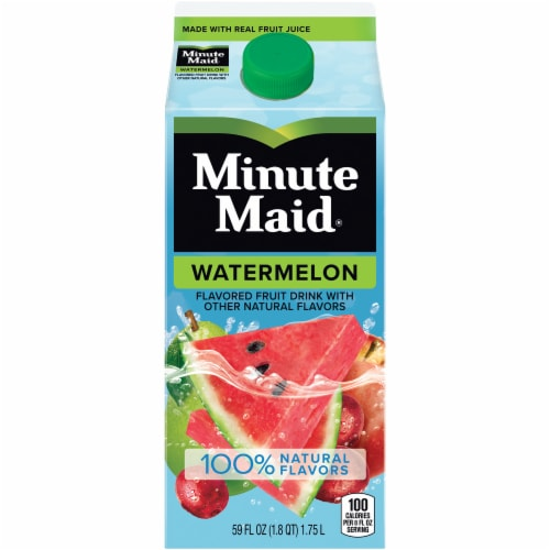Minute Maid Watermelon Flavored Fruit Juice Drink Perspective: front