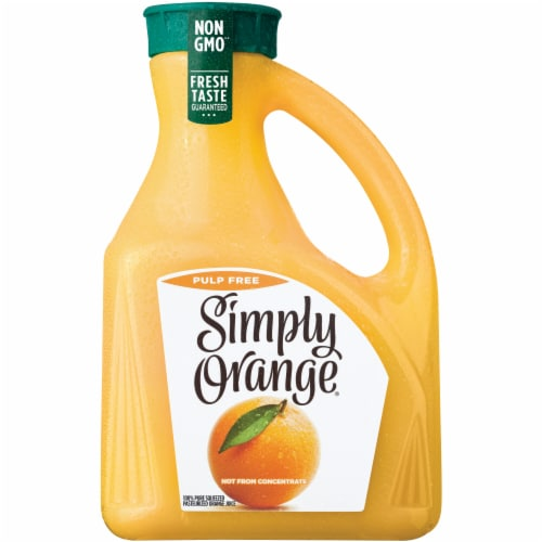 Simply Orange Pulp Free Juice Perspective: front