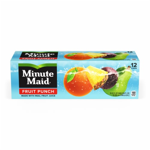Minute Maid Fruit Punch Fruit Juice Drink Fridge Pack Perspective: front