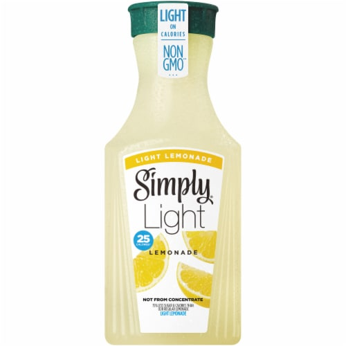 Simply Light Lemonade Juice Drink Perspective: front