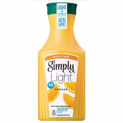Simply Light Pulp Free Orange Juice Perspective: front