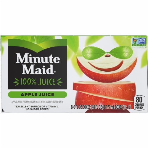 Minute Maid Apple Juice Boxes Perspective: front