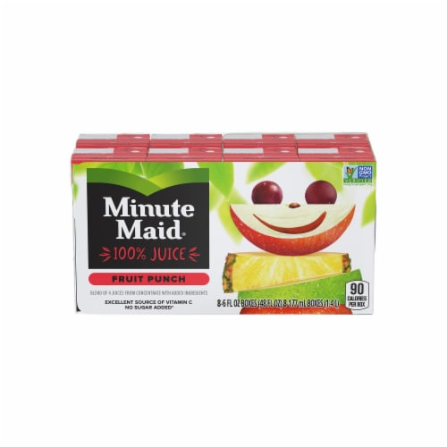 Minute Maid Fruit Punch Juice Boxes Perspective: front