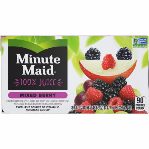 Minute Maid Mixed Berry Juice Boxes Perspective: front