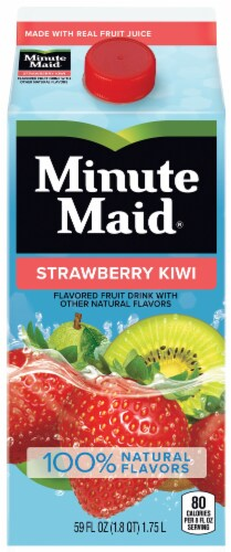 Minute Maid Strawberry Kiwi Flavored Fruit Juice Drink Perspective: front